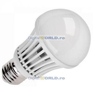 Bec super-economic cu LED-uri, consum 5W, echivalent 50W, lumina alba calda