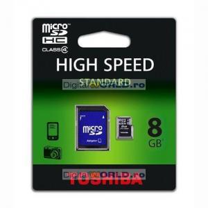 Card memorie Micro SD, SDHC 8GB, Toshiba