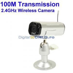 Camera de supraveghere wireless 2.4GHz, cu microfon, acumulator si LED-uri infrarosu