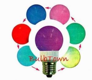 Bec economic cu LED-uri, cu lumina multicolora schimbatoare