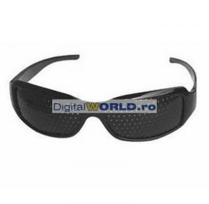 Ochelari de vedere Pinholes stenopici pentru citit sau vedere la distanta, corectarea vederii si eliminarea oboselii ochilor, ochelari cu gaurele pinhole