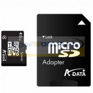 Card memorie Micro-SD, 8GB, cu adaptor SD, A-Data