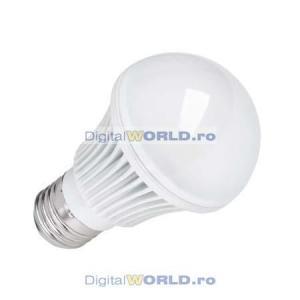 Bec super-economic LED-uri, consum 8.5W, echivalent 80W, lumina alba calda