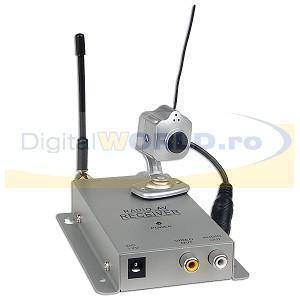 Camera supraveghere wireless miniatura, cu microfon, tip SPY