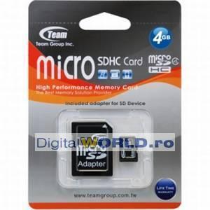 Card memorie Micro SD, SDHC 4GB, Team