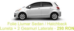 Folie Auto Llumar Sedan / Hatchback Luneta + 2 Geamuri Laterale