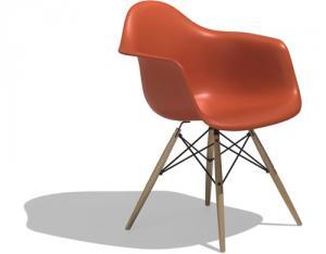 Eames molded plastic armchair - dowel leg