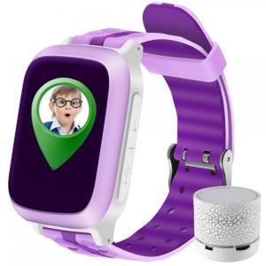 Ceas Smartwatch cu GPS Copii iUni Kid18, Telefon incorporat, Alarma SOS, 1.44 Inch, Pink + Boxa Cadou