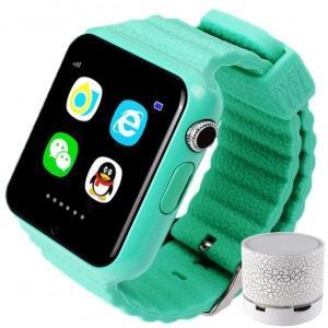 Smartwatch cu GPS Copii si Seniori iUni V8K Pedometru Touchscreen 1.54' BT, Notificari, Camera, Green + Boxa