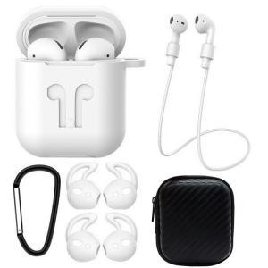 Set 6 accesorii AirPods, culoare alb
