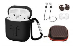 Set 6 accesorii AirPods, culoare neagra