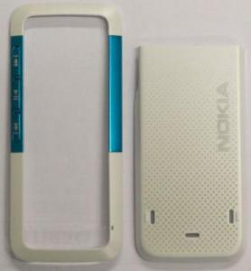 Carcase Carcasa Nokia 5310 alb+blue originala fata+capac baterie n/c253505,253511