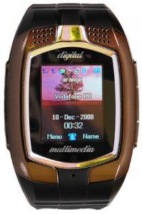 Telefon Dual SiM in forma de CEAS, WATCH MOBILE M860 -negru/fumuriu