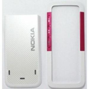 Carcasa Nokia 5310 alb+roz