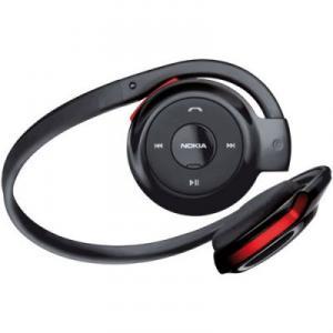 Casca bluetooth Nokia BH-503 BLACK-RED cu incarcator AC-5E
