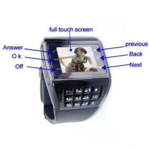 Telefon in forma de CEAS, WATCH MOBILE Q6 -negru