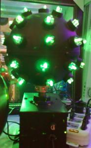 Laser rotativ rosu verde