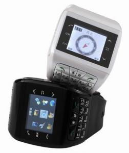 Telefon Dual SiM in forma de CEAS, WATCH MOBILE Q9 Busola -alb