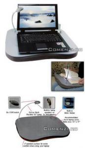 Suport laptop cu perna si lampa