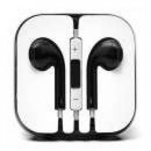 Accesorii telefoane - hands free Hands Free iPhone 5s Stereo Cu Microfon - Negru