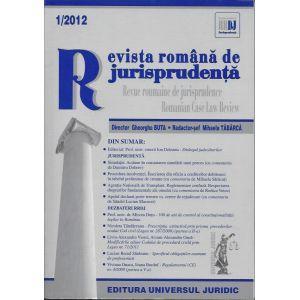 Revista romana de jurisprudenta nr. 1/2012