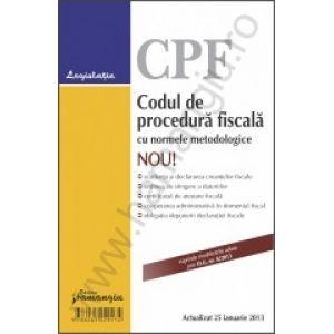 Codul de procedura fiscala cu normele metodologice