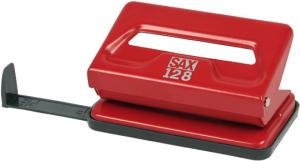 Perforator SAX 128/S, max. 12 coli, rosu