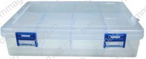 127820 - cutie compartimentata, 140 x 70 x 30 mm, 8 compartiment