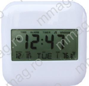 Ceas desteptator cu termometru digital