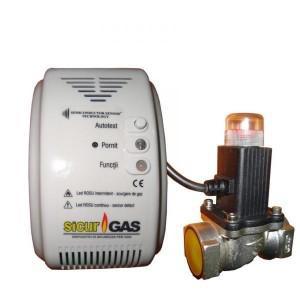Detector de gaz electrovalva
