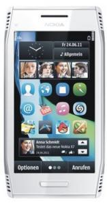 Nokia X7-00 White Steel