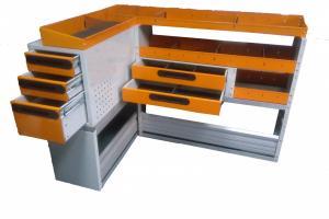 Mobiler metalic Order System cu sertare si cutii pentru Renault Kangoo Maxi