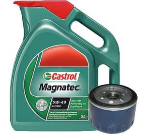 Pachet Ulei Castrol si filtru de ulei pentru Opel Astra G 1,7 CDTI