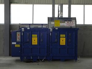 Presa de balotat cu doua camere pentru deseuri reciclabile