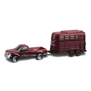 FORD F350 SUPER DUTY PICK-UP WITH HORSE CARRIES