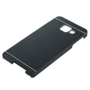 OTB Backcover kompatibel zu Samsung Galaxy A3 (2016) SM-A310F Metall schwarz ON3628