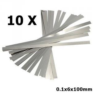 10x 0.1x6x100mm Pure Nickel Plate Battery Strap Strip AL401