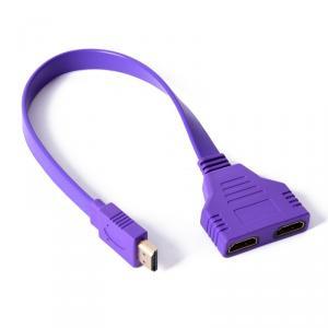 HDMI Male la 2 HDMI Female Y Cablu Splitter Adaptor Mov AL427