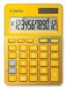 Calculator birou, 12 Digits, CANON LS 123 color , 145 x 104 x 25 mm-galben