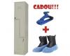 VESTIAR METALIC CU 2 USI Z  ECO+, 400x450x1800 mm (LxlxH)+CADOU! (5 buc Umeras+100 buc Botosei)