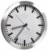 Ceas rotund de perete, d-35.5cm, alco - rama plastic argintie - dial