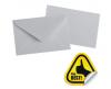 Plic c7 gumat (90x140 mm) 80 g/mp alb, 1000 buc