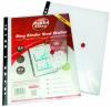 Folie protectie documente A4, cu clapa laterala cu capsa, 5 buc/set, PUKKA - transparent