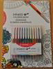 Set 12 pixuri cu gel penac inketti, culori asortate + carte de colorat