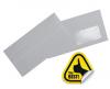 Plic dl autoadeziv (110x220 mm) fereastra dreapta 80 g/mp alb, 1000