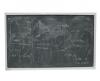 Tabla scolara din sticla pt. creta 200x120 cm