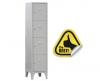 DULAP VESTIAR METALIC CU PICIOARE SI 4 compartimente 170/04, 350x500x1800 mm (LxlxH), Italia