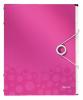 Mapa cu separatoare leitz wow, pp, 12 separatoare - roz metalizat