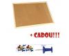 Panou pluta 90x120 cm, rama lemn + cadou!!! (pioneze