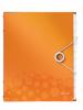 Mapa cu separatoare leitz wow, pp, 12 separatoare - portocaliu